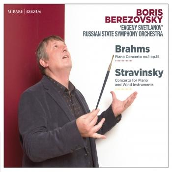 Cover Brahms: Piano Concerto No. 1, Op. 15 - Stravinsky: Concerto for Piano and Wind Instruments