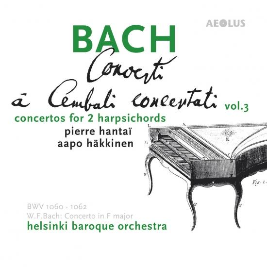Cover Bach: Harpsichord Concertos Vol. 3, Complete Concertos for two Harpsichords