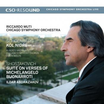 Cover Schoenberg: Kol Nidre - Shostakovich: Suite on Verses of Michelangelo Buonarroti